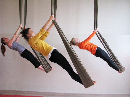 aerial yoga class by Jo